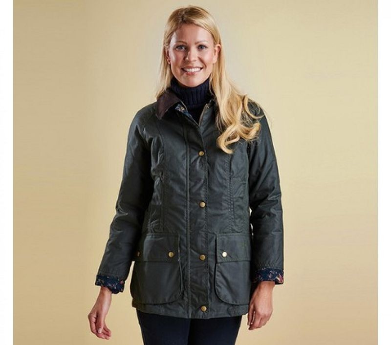 Barbour Women Tors Wax Jacket Sage