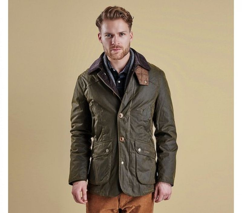 Barbour Men Cullen Wax Jacket Olive
