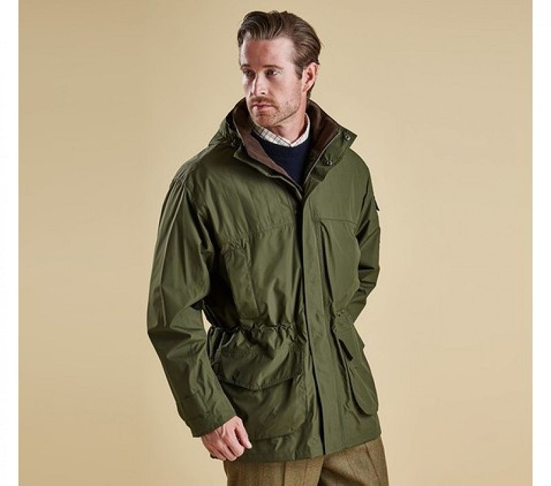 Barbour Men Darley Waterproof Jacket New Olive