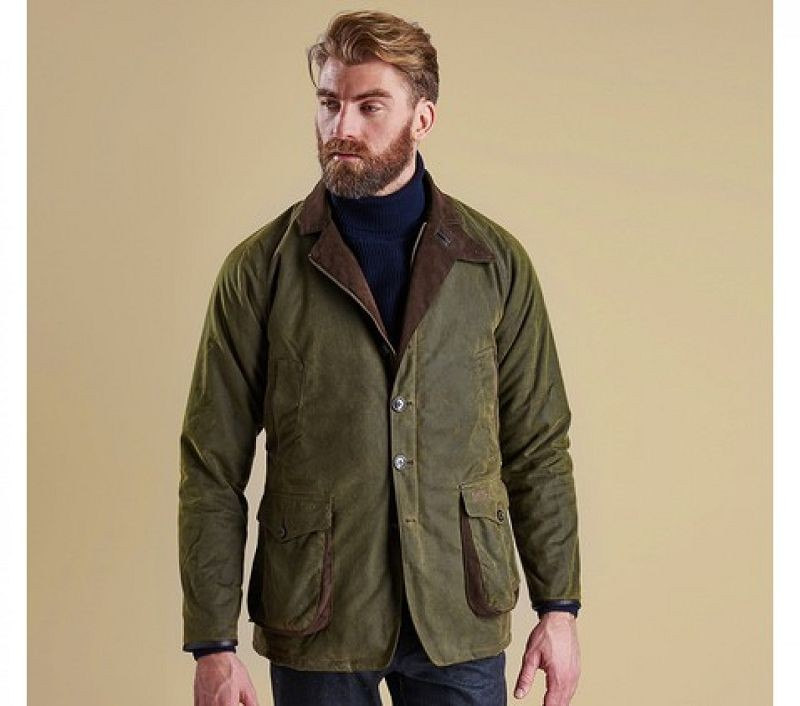 Barbour Men Driver Wax Jacket Olive