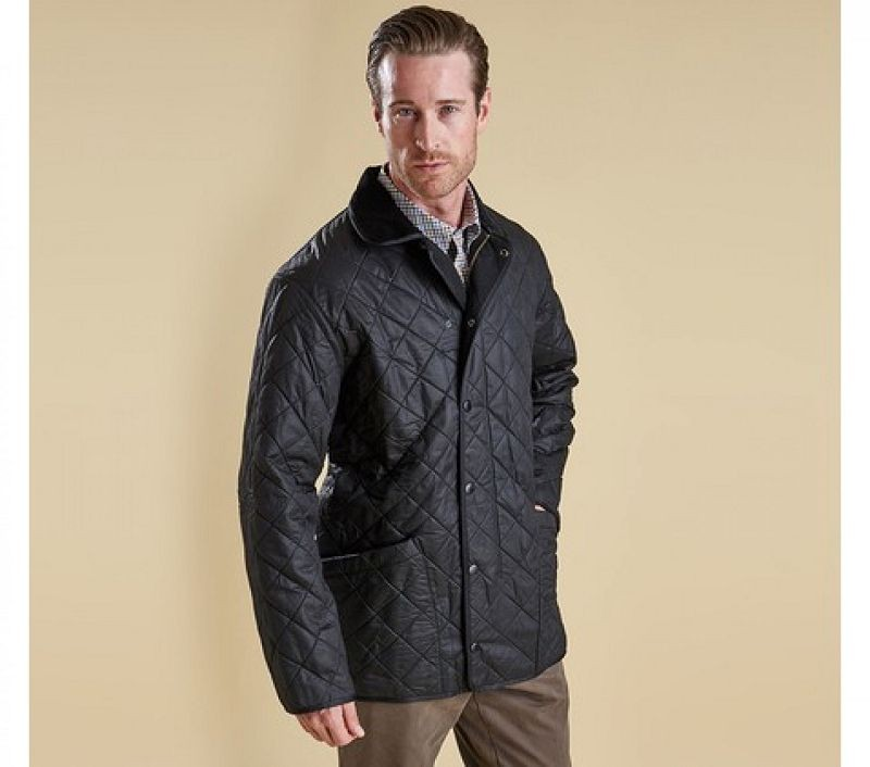 Barbour Men Duracotton Polarquilt Jacket Black