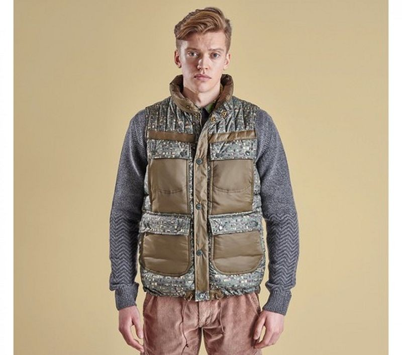 Barbour Men Edenkawa Quilted Gilet Olive