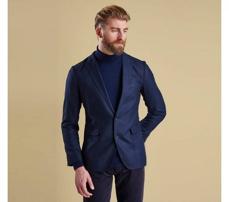 Barbour Men Ellis Tailored Jacket Navy