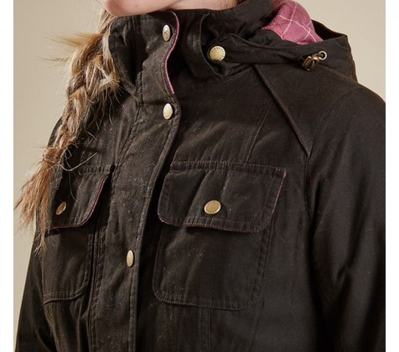Barbour Women Equine Waterproof Jacket Olive