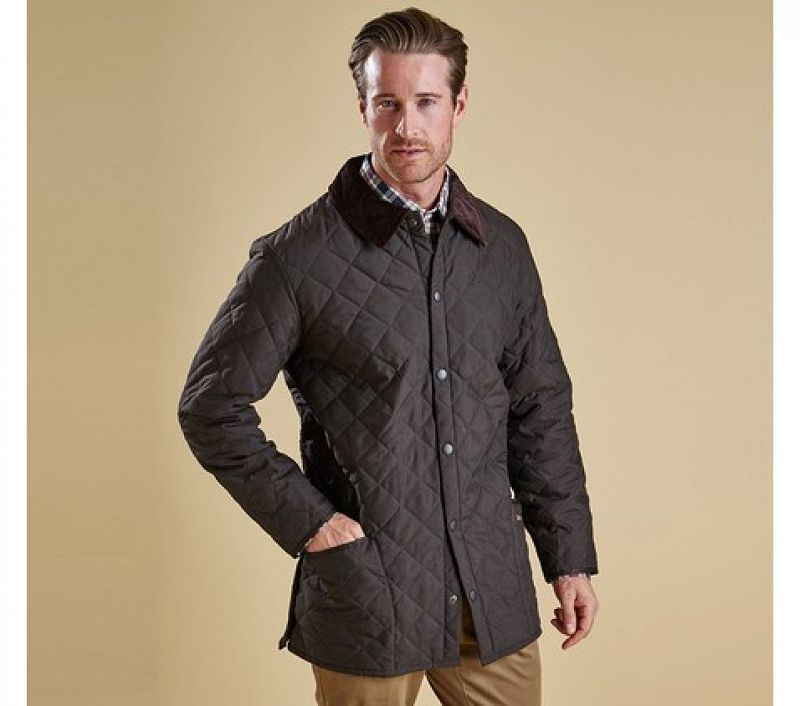 Barbour Men Eskdale Quilted Jacket Dark Brown