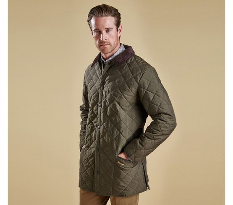 Barbour Men Eskdale Quilted Jacket Forest Green