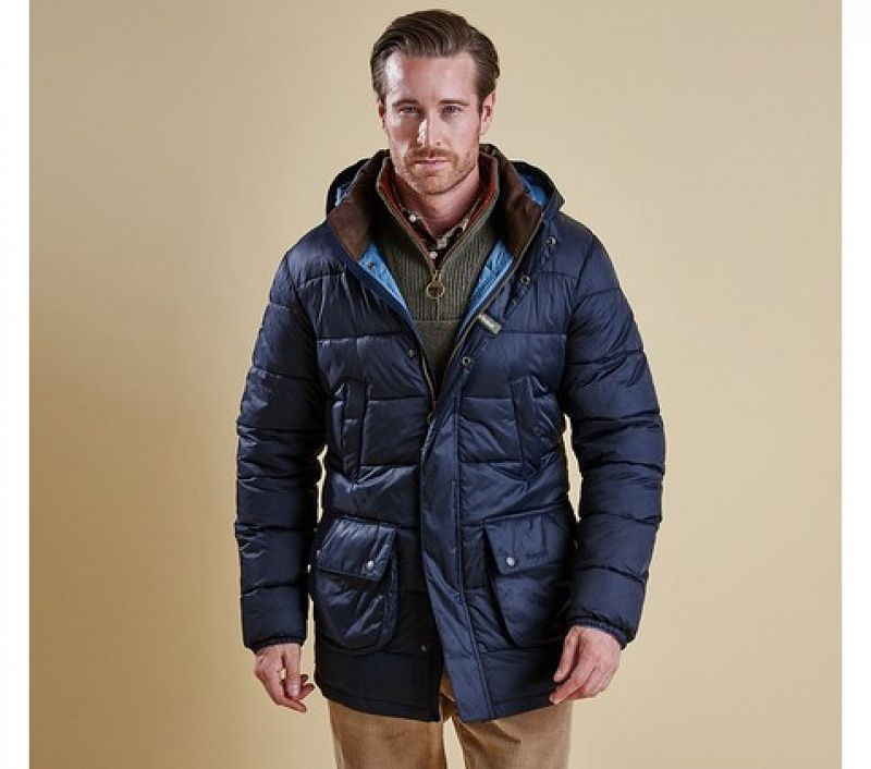 Barbour Men Fairfor Quilted Jacket Navy