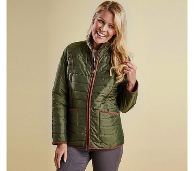Barbour Women Fell Polarquilt Jacket Olive
