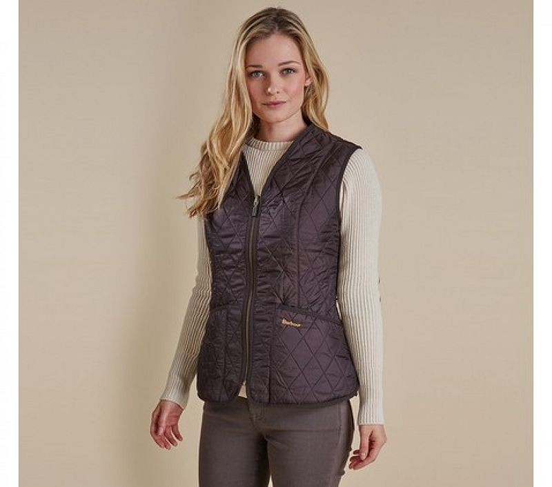 Barbour Women Fleece Betty Liner Dark Brown