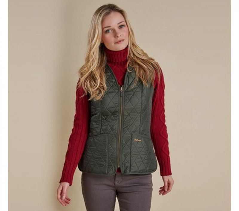 Barbour Women Fleece Betty Liner Dark Olive