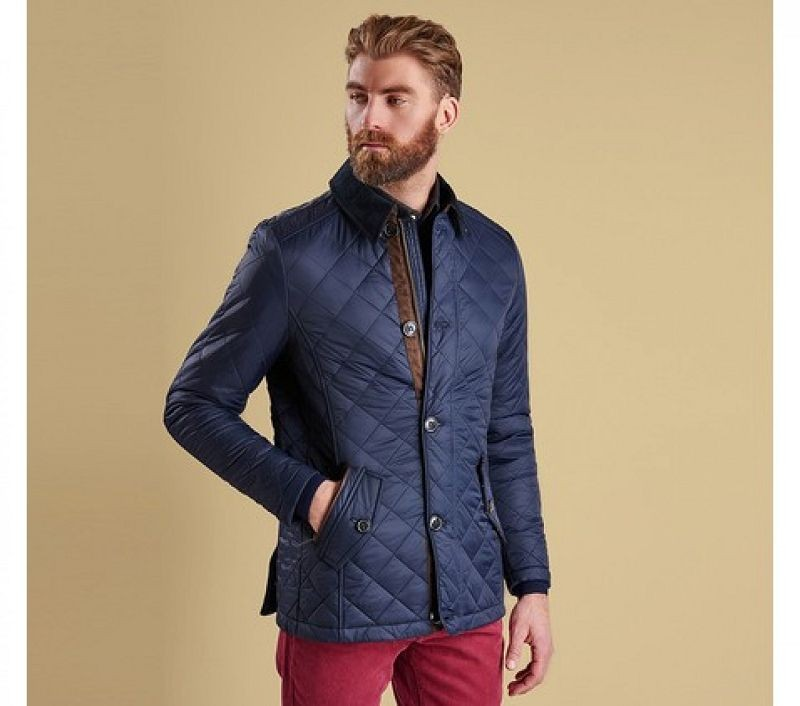 Barbour Men Fortnum Quilted Jacket Navy