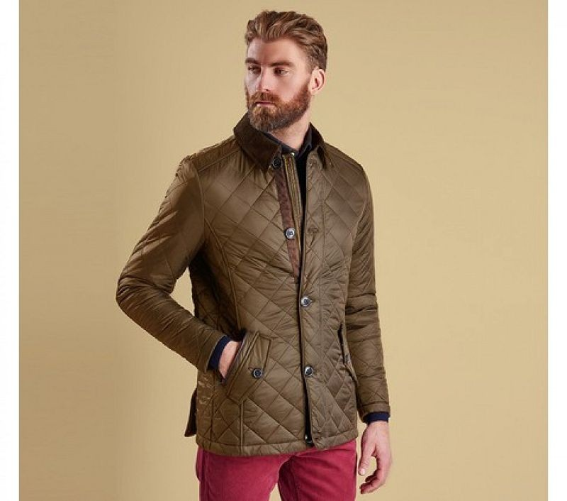 Barbour Men Fortnum Quilted Jacket Olive