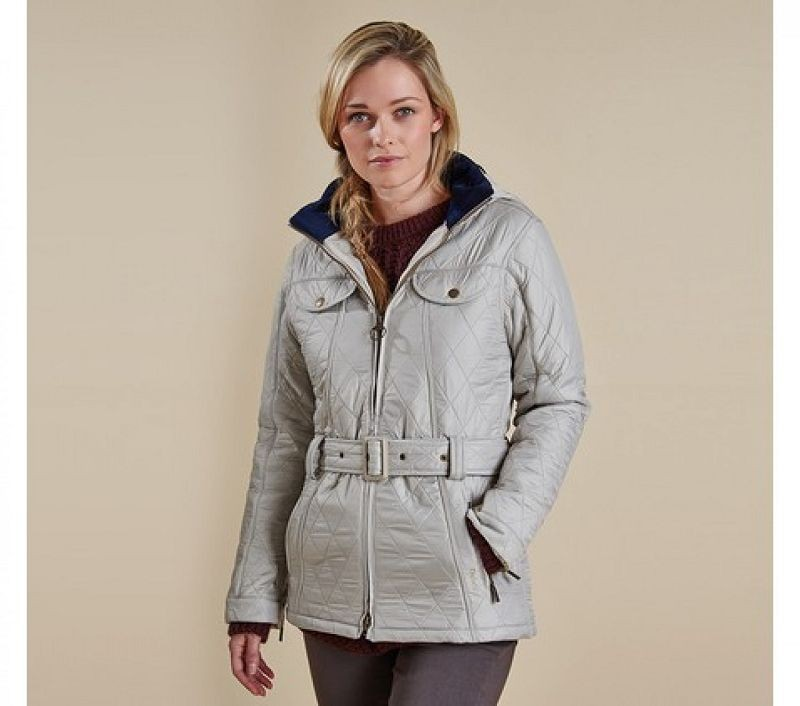 Barbour Women Grace Polarquilt Jacket Pearl/Navy