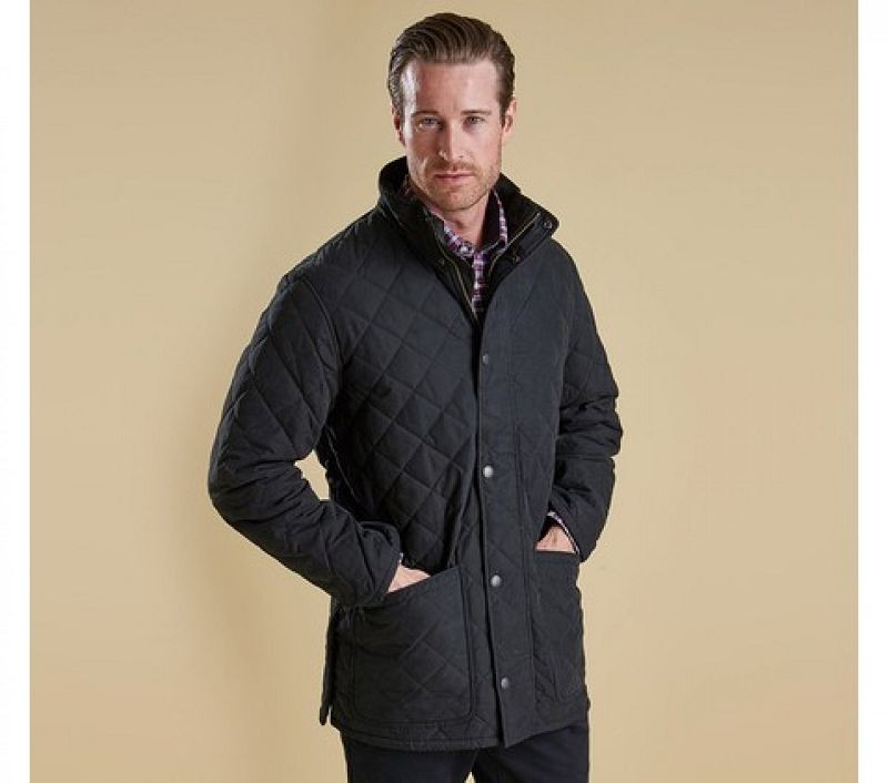 Barbour Men Hampton Quilted Jacket Black