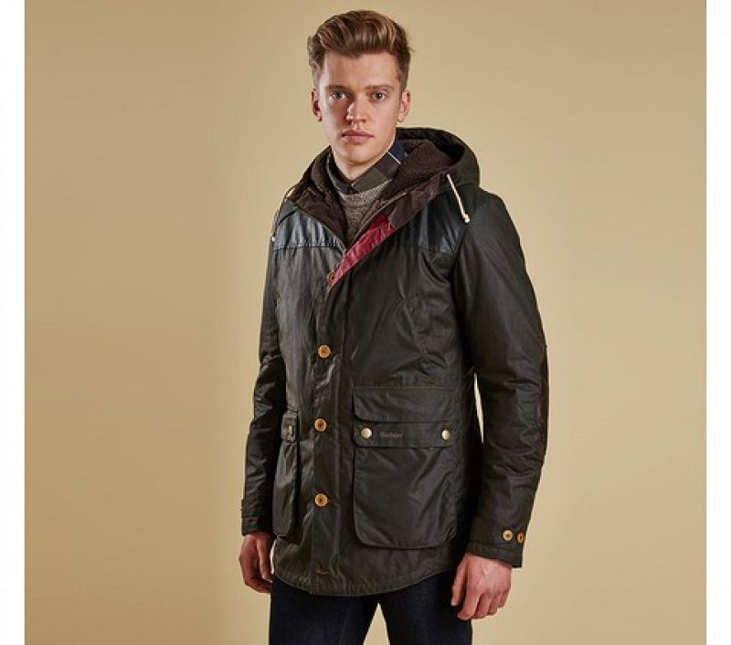 Barbour Men Game Parka Olive