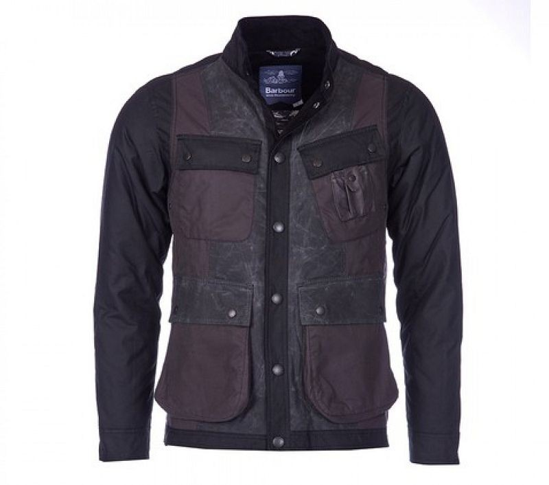 Barbour Men Kirknasu Wax Jacket Black