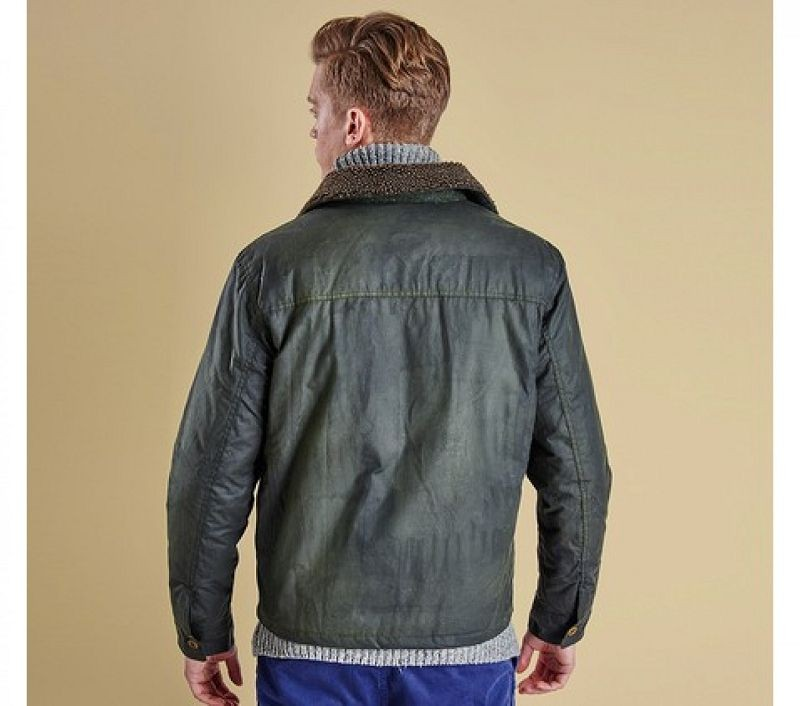 Barbour Men Termon Wax Jacket Sage