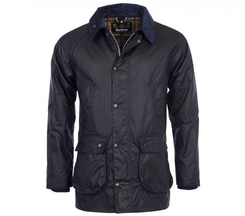 Barbour Men Bedale Slim Waxed Jacket Navy