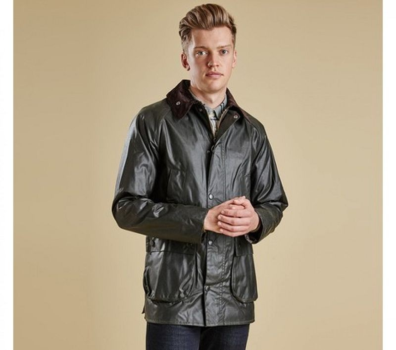 Barbour Men Bedale Slim Waxed Jacket Sage