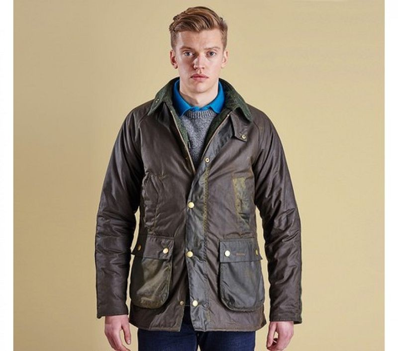 Barbour Men Slim Fit Bedale Moon'S Wax Jacket Olive