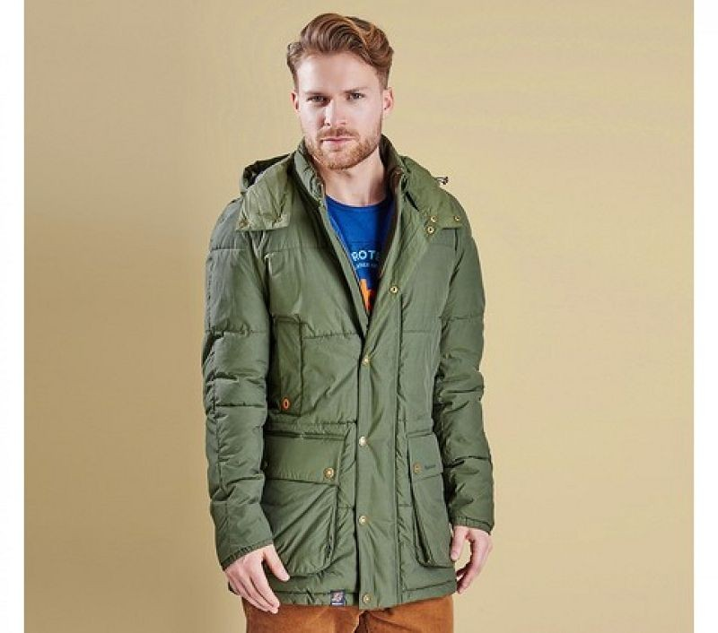 Barbour Men Hoola Quilted Jacket Olive