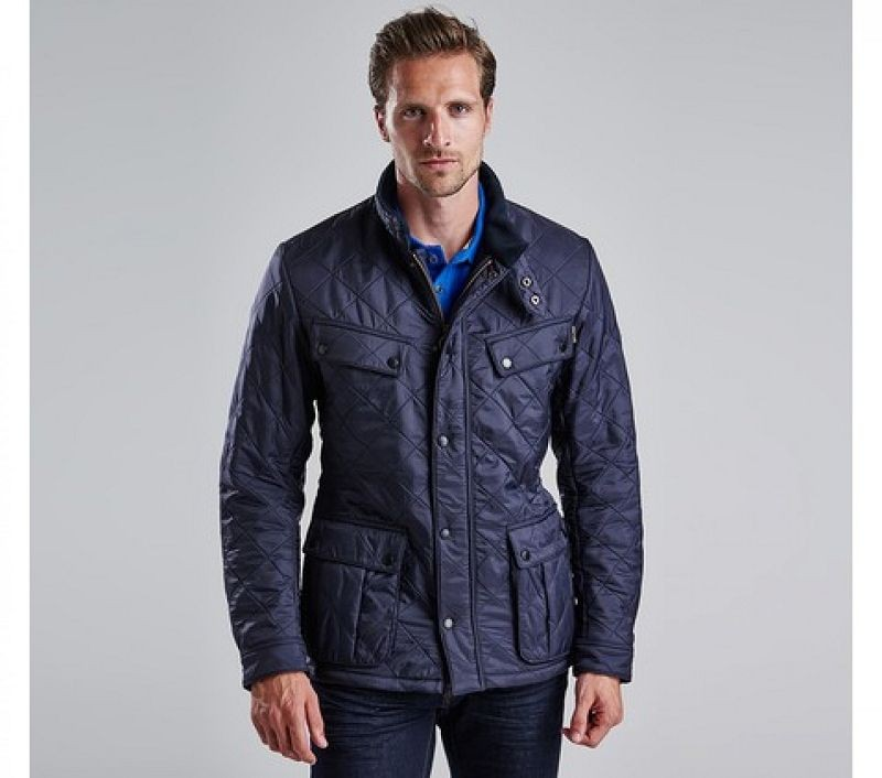 Barbour Men Ariel Polarquilt Jacket Navy