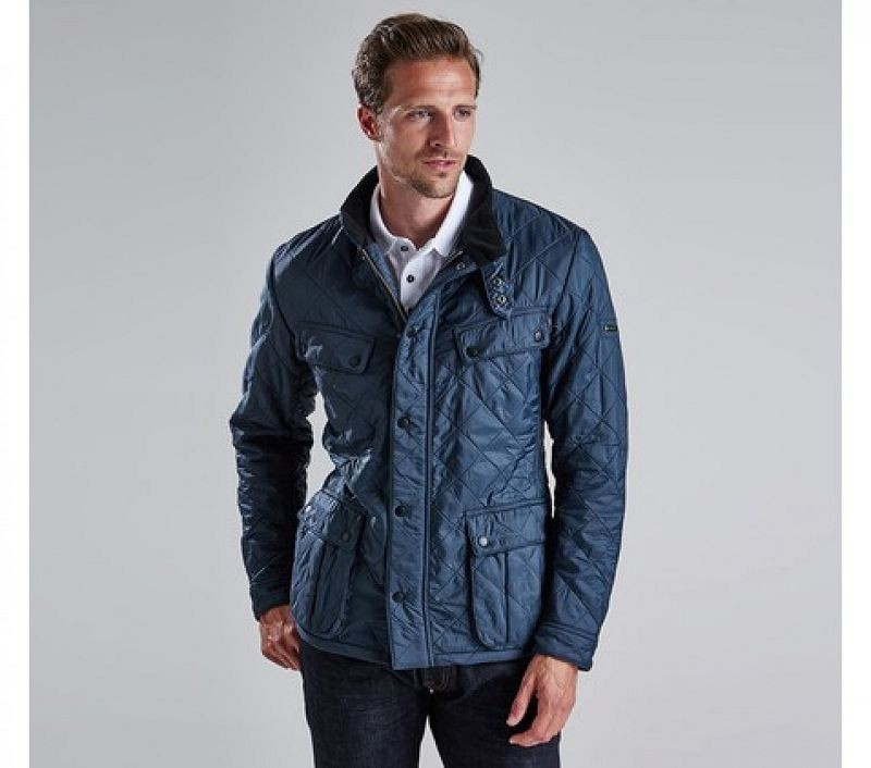Barbour Men Ariel Polarquilt Jacket Petrol