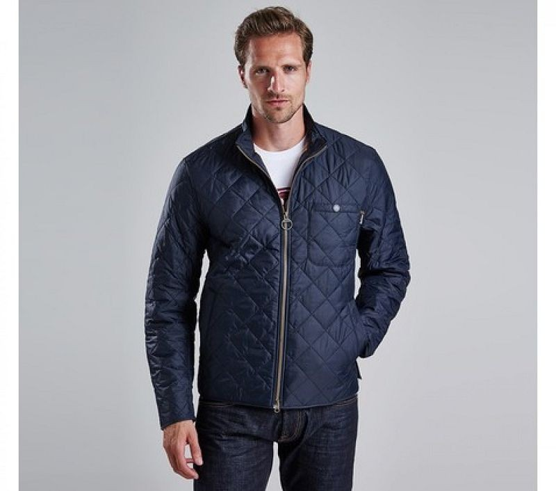 Barbour Men Axle Quilted Jacket Navy