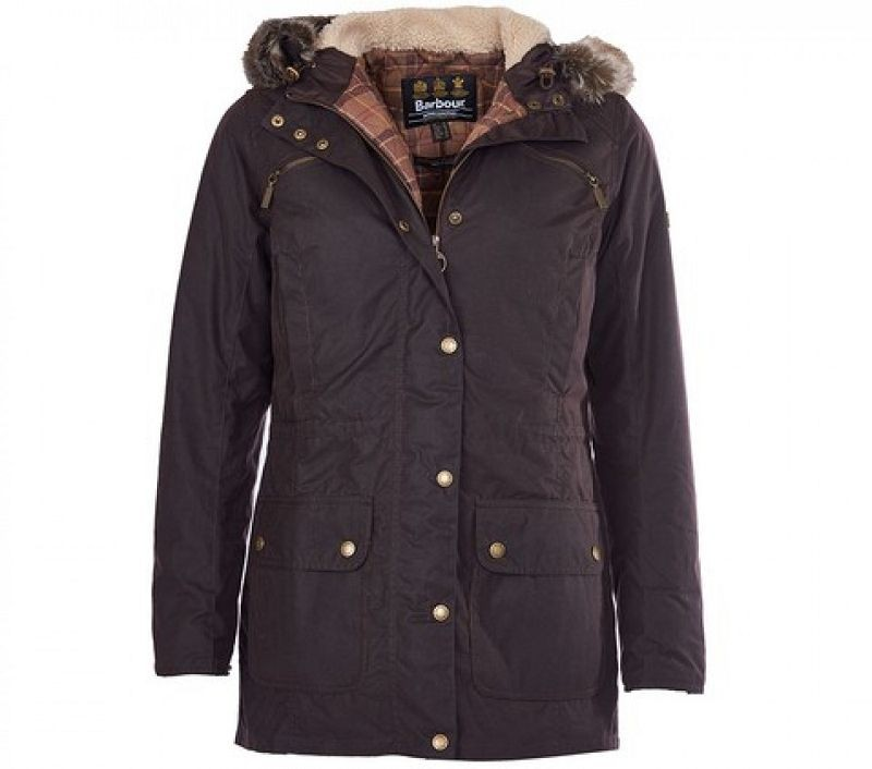Barbour Women Bearing Wax Parka Rustic