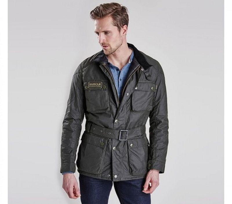 Barbour Men Blackwell Slim Fit Wax Jacket Sage