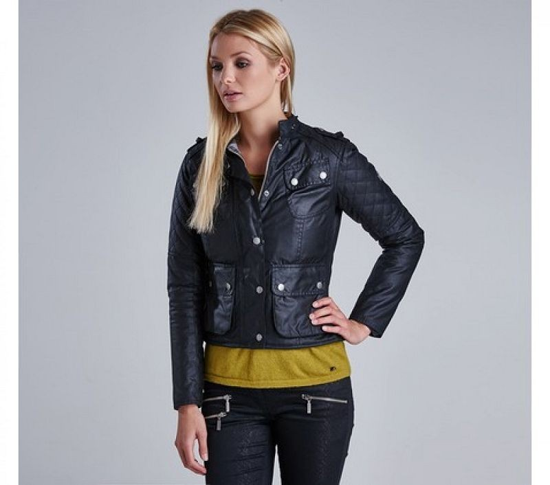Barbour Women Chicara Wax Jacket Black