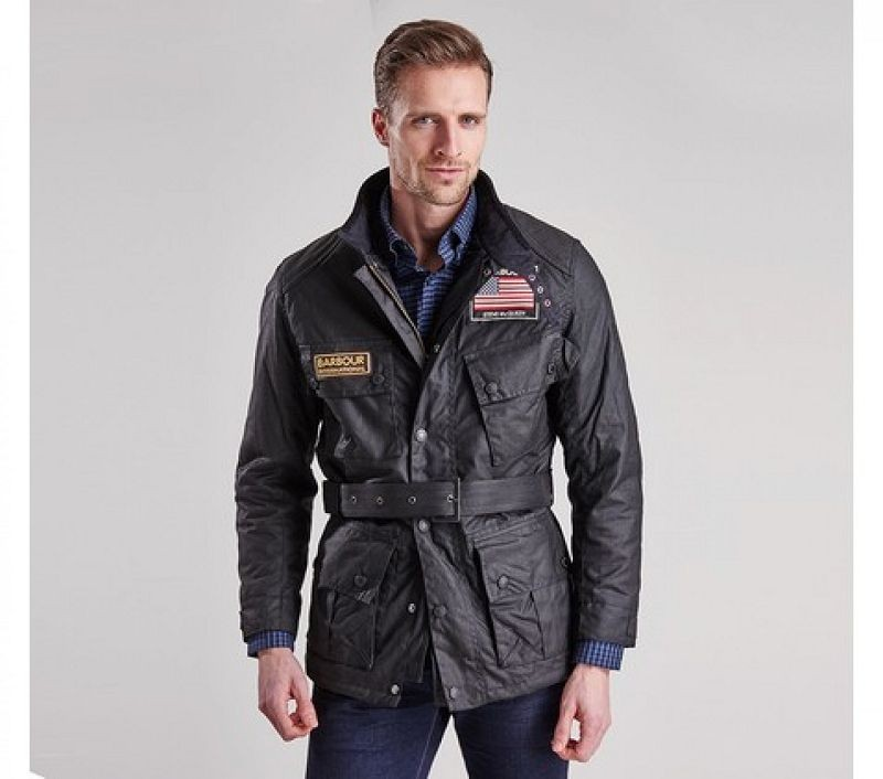 Barbour Men Cincinnati Wax Jacket Black