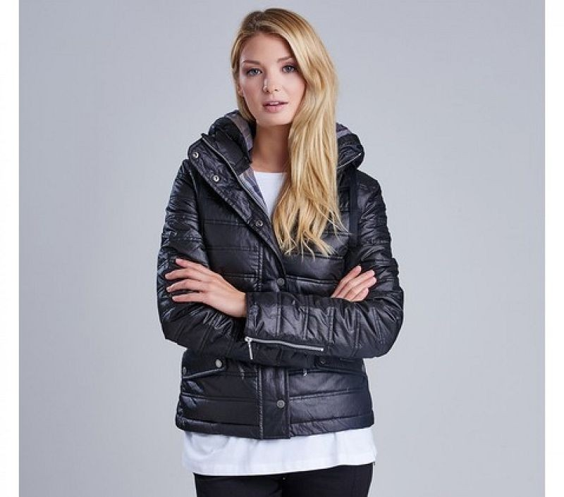 Barbour Women Crown Quilted Jacket Black/Modern