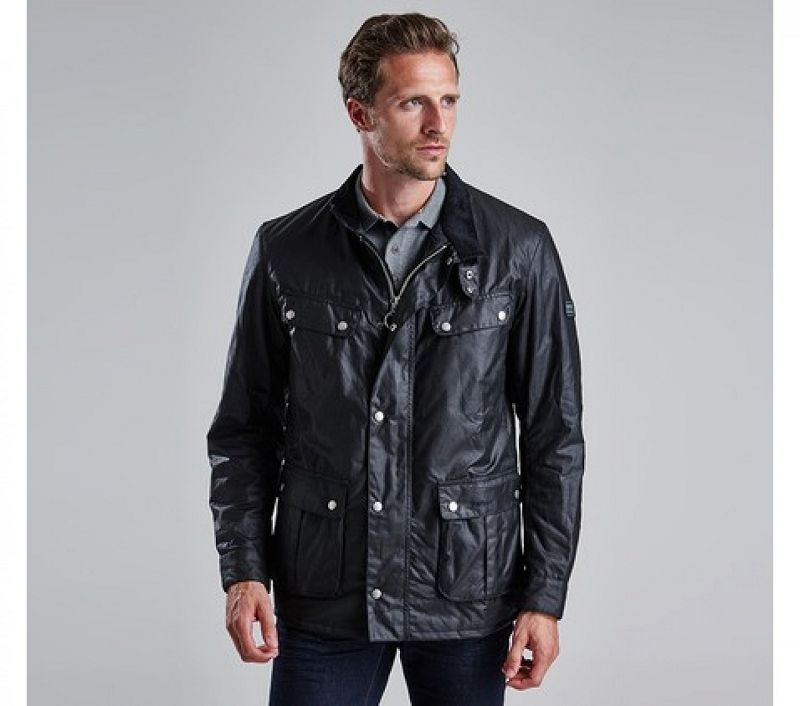 Barbour Men Duke Waxed Jacket Black