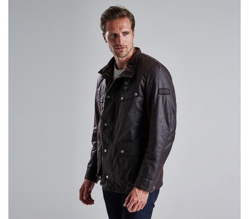 Barbour Men Duke Waxed Jacket Rustic