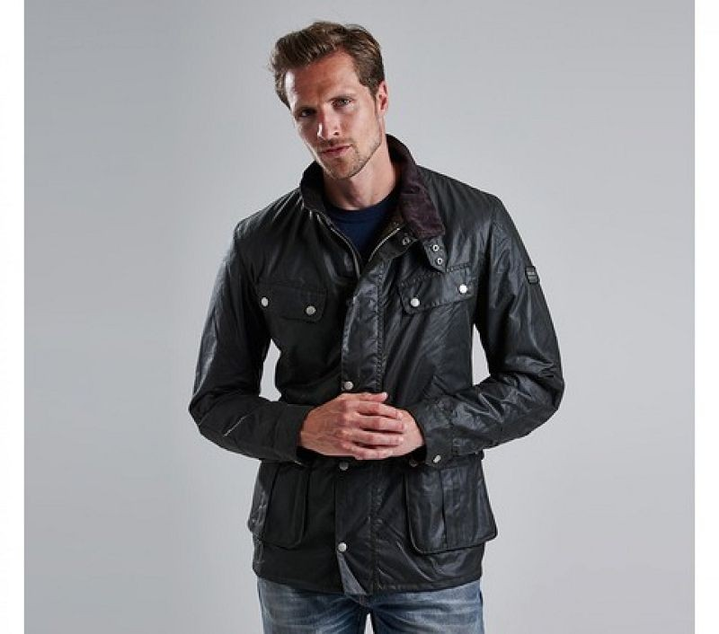 Barbour Men Duke Waxed Jacket Sage