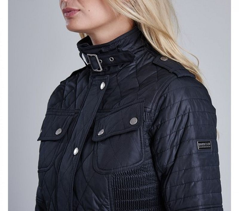 Barbour Women Fireblade Ribbed Quilted Jacket Black