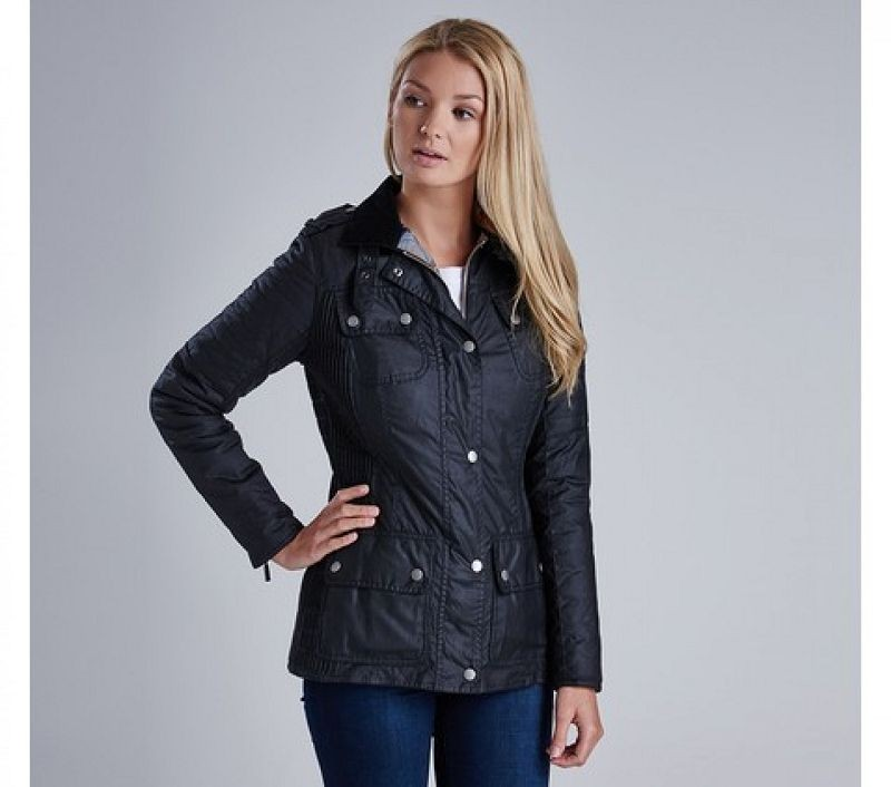 Barbour Women Fireblade Wax Jacket Black
