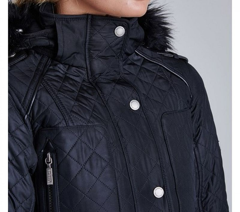 Barbour Women Katana Quilted Jacket Black