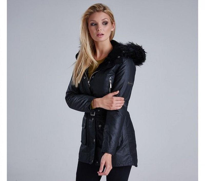 Barbour Women Katana Wax Parka Black