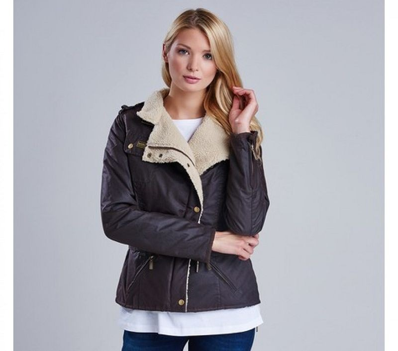 Barbour Women Matlock Waxed Jacket Rustic/Natural