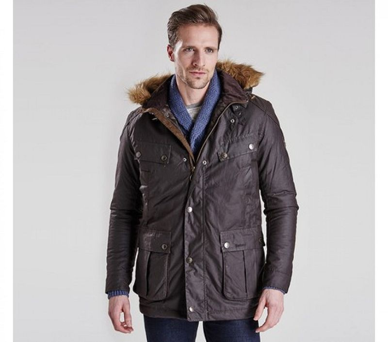 Barbour Men Pipe Tailored Fit Wax Jacket Rustic