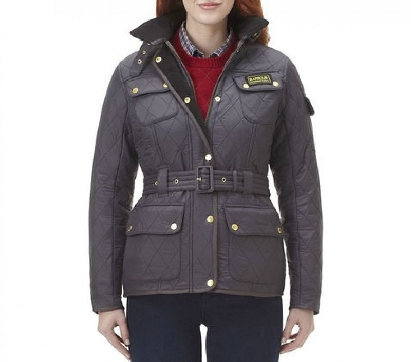 Barbour Women Polarquilt Jacket Charcoal/Black