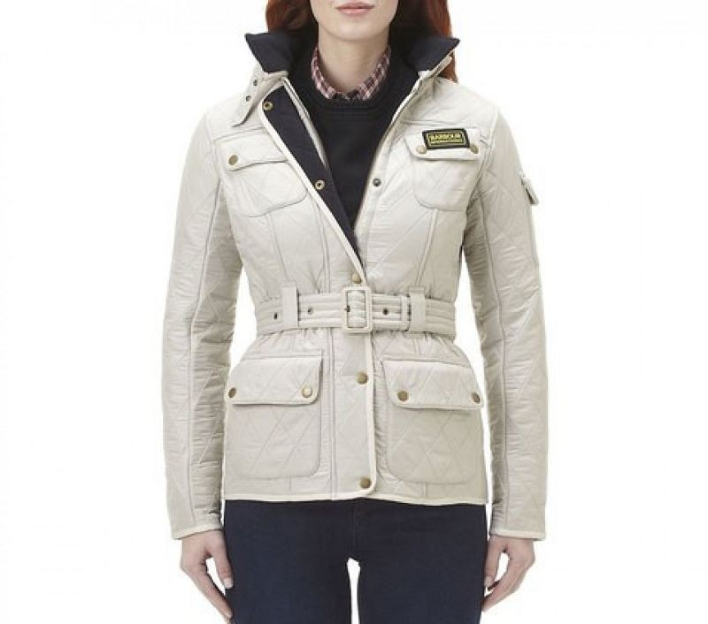 Barbour Women Polarquilt Jacket Pearl/Navy