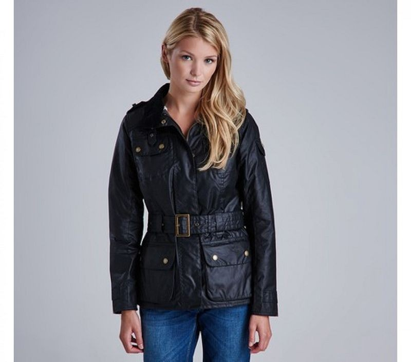 Barbour Women Rectifier Wax Jacket Black