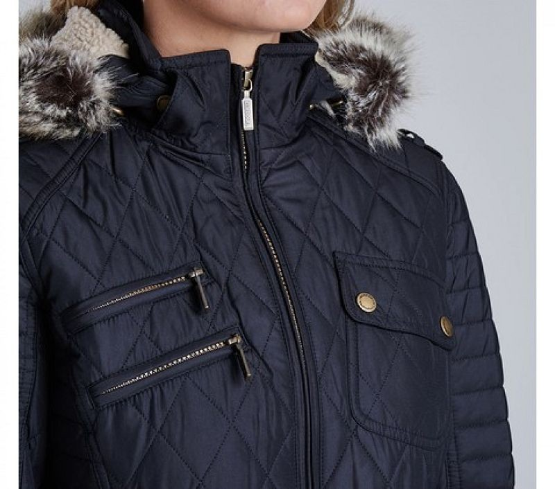 Barbour Women Reflector Quilted Jacket Black