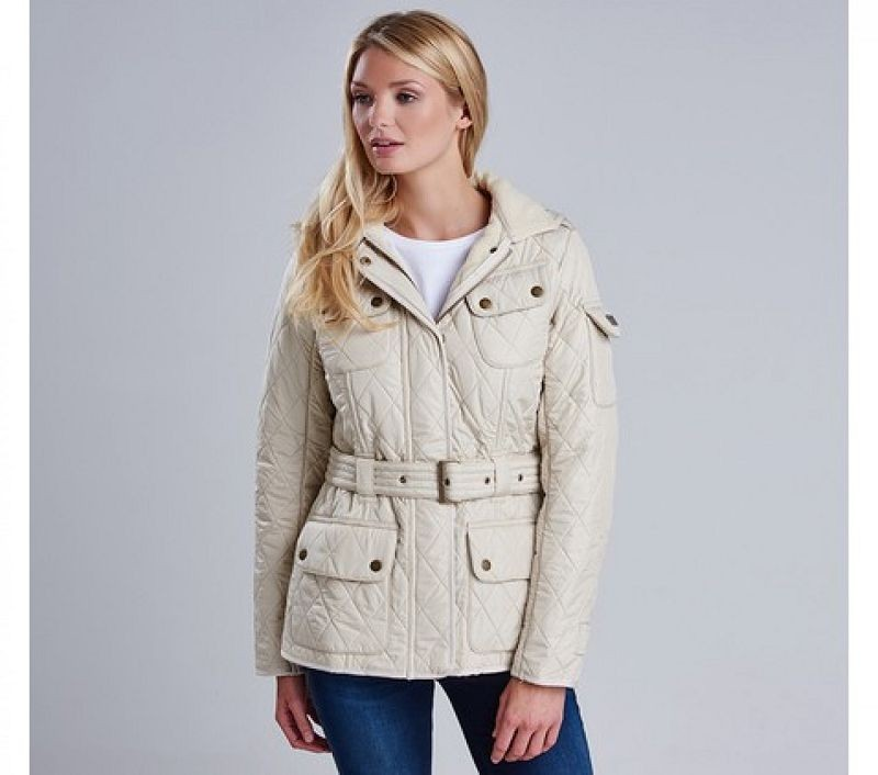 Barbour Women Tourer Polarquilt Pearl