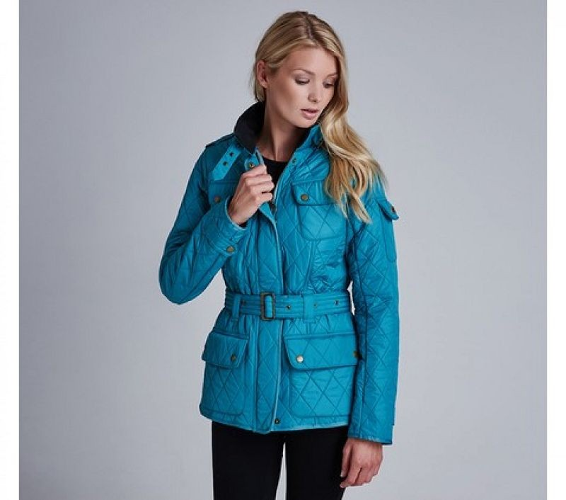 Barbour Women Tourer Polarquilt Verdigris/Black