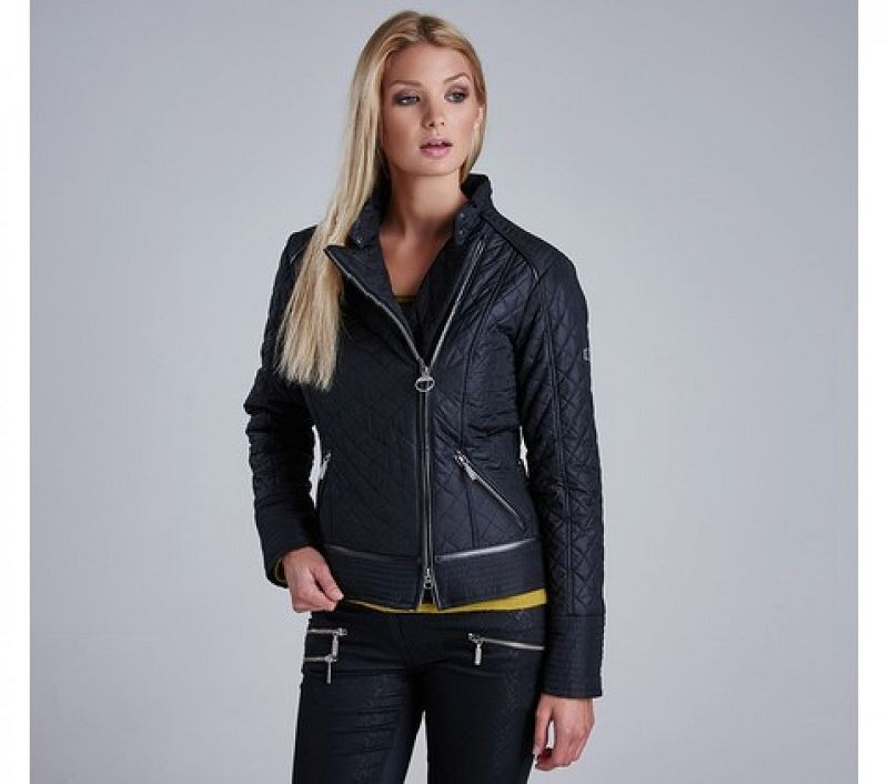 Barbour Women Vanier Short Quilted Jacket Black