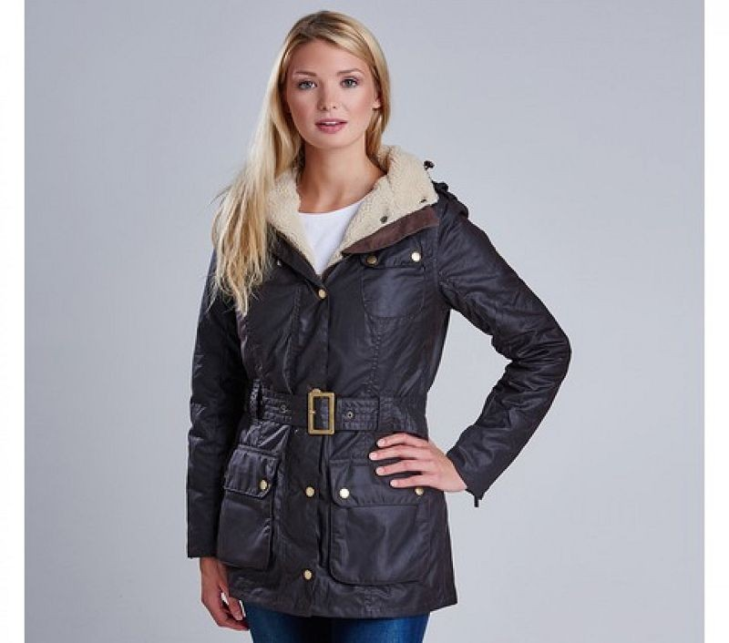 Barbour Women Weyhill Waxed Jacket Rustic/Natural